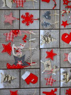 Новогодняя декоративная ткань AMEDIO