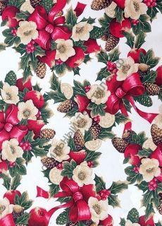 Новогодняя декоративная ткань  NADAL rojo
