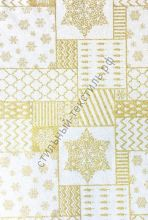 Новогодняя декоративная ткань SHIVERY Gold