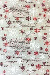Новогодняя декоративная ткань WINTER