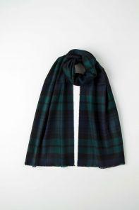 стильный шарф 100% шерсть мериноса, расцветка Блэк Уотч Черная Стража Британской Империи Blackwatch tartan MERINO, средняя плотность 4