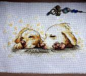 """Схема для вышивания крестиком """"Golden dreams"""". Отшив."""