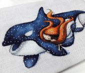 Схема для вышивки крестом Маленькие нимфы - Фетида. Отшив.
