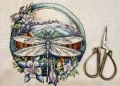 "Cross stitch pattern ""Dragonfly""."