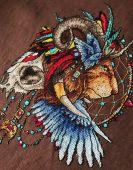 Схема для вышивки крестом Ловец снов - Лев1. Отшив.