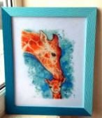 "Cross stitch pattern ""Giraffes""."