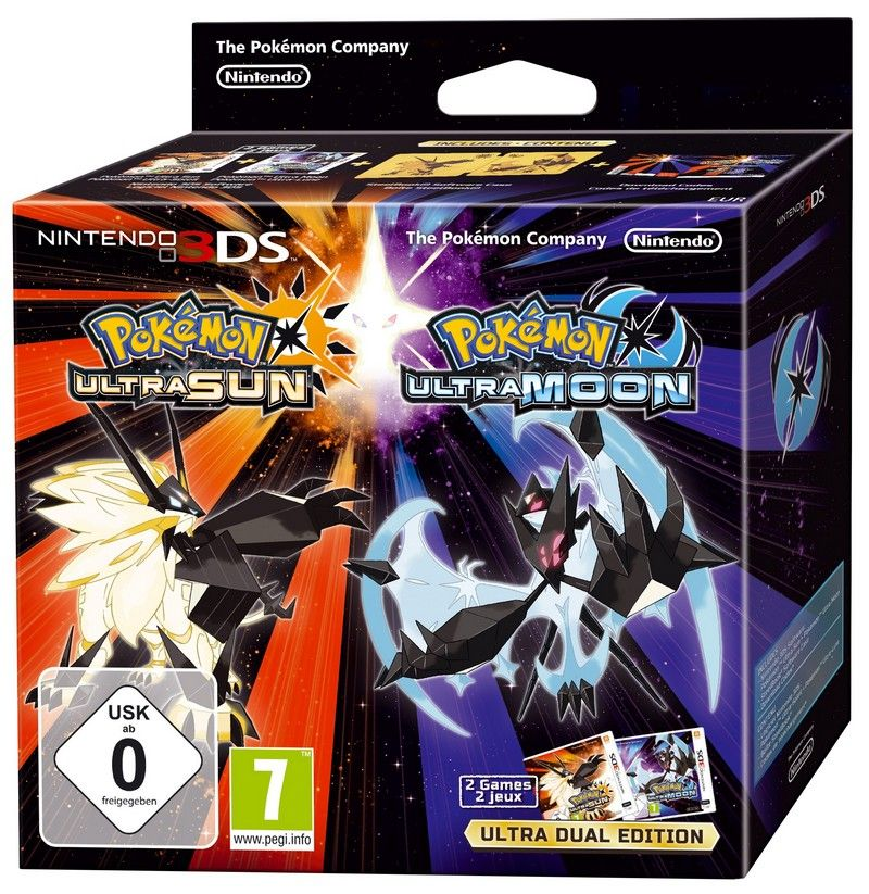 Игра Pokemon Ultra Sun/ Ultra Moon Deluxe Dual Edition (Nintendo 3DS)