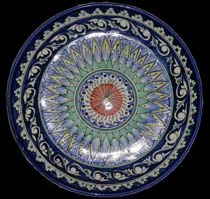 Тарелка ручной работы для плова 32см