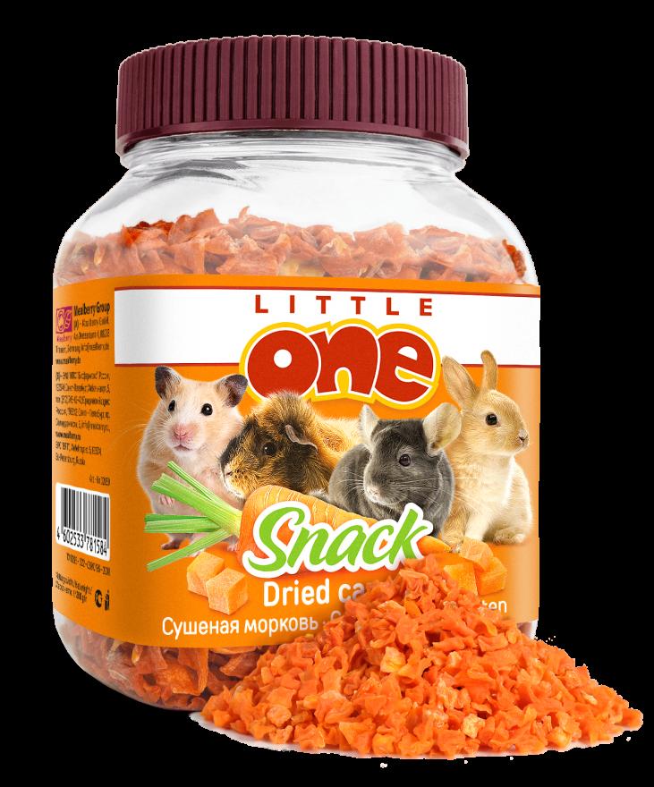 Сушеная морковь Little One. Лакомство для всех видов грызунов