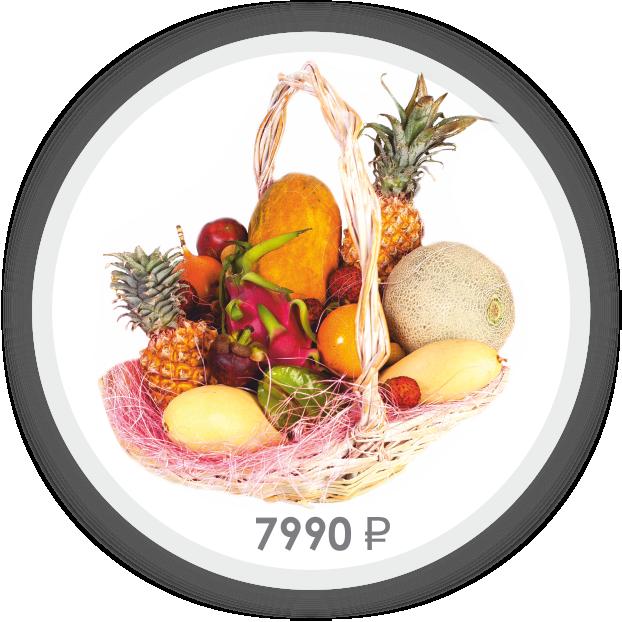 Корзина с фруктами Новый Год