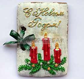 """Новогодние пряники расписные """"Открытка на Новый Год"""" Новогодние подарки"""