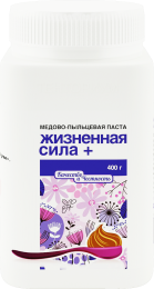 Медово-пыльцевая паста «Жизненная сила плюс» (400 г)