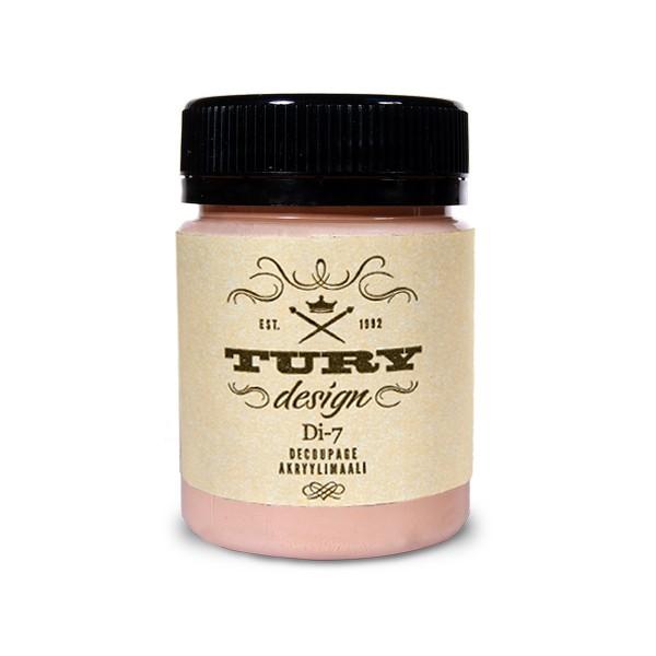 Краска акриловая Tury Design Di-7 цвет: розовыйперсик 14-50 60 гр.
