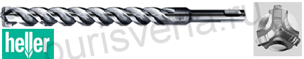 Бур по железобетону Heller Trijet, SDS-plus, 8х100х160мм