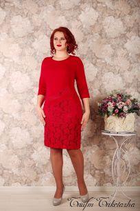 Платье Модница (красный)