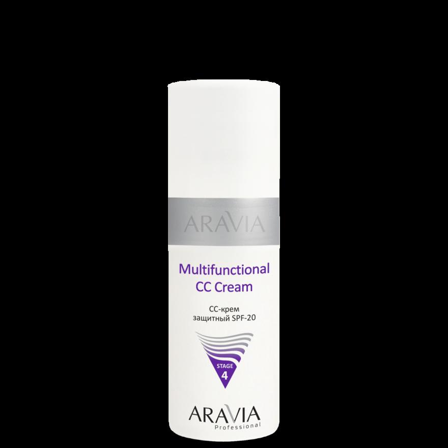 ARAVIA Professional CC-крем защитный SPF-20 Multifunctional CC Cream, 150 мл./12