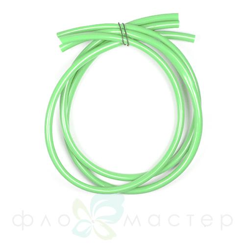 Трубка для утолщения стебля (флористический рукав) зеленая 1м, D=6мм