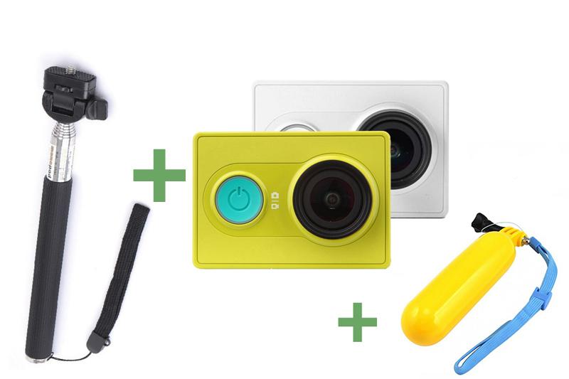 Экшн-камера Xiaomi Yi +Монопод+Поплавок