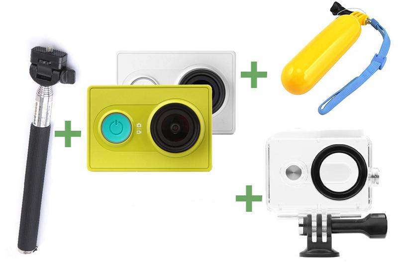 Экшн-камера Xiaomi Yi +Монопод+Поплавок+Аквабокс