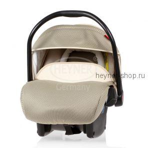 SuperProtect ERGO (СуперПротект), Детское автокресло-переноска для новорожденных HEYNER Super Protect ERGO гр. 0+ (0-13 кг, 0-9 мес.), бежевое