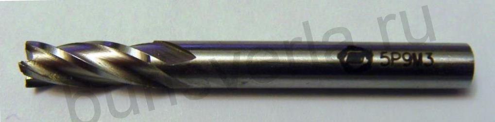 Фреза концевая 4-х заходная, Р9М3, 5 мм