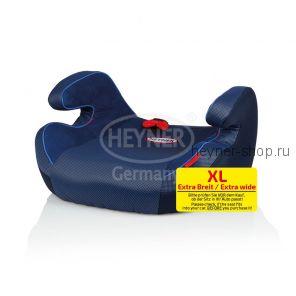 Бустер XL, HEYNER SafeUp Comfort XL для детей с 6 до 12 лет (рост от 120 см.) - один из самых широких бустеров