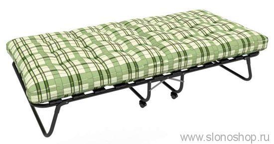 Раскладушка Изабелла (раскладная кровать на ламелях с матрасом) 1900х800х340 120кг