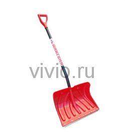 """Лопата снеговая пластмассовая """"ПИНГВИН"""" алюминиевая V-ручка"""