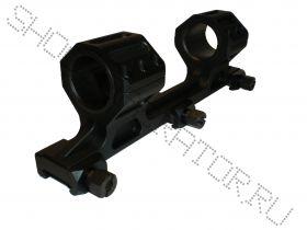 Кронштейн моноблок с кольцами 25.4 - 30 мм