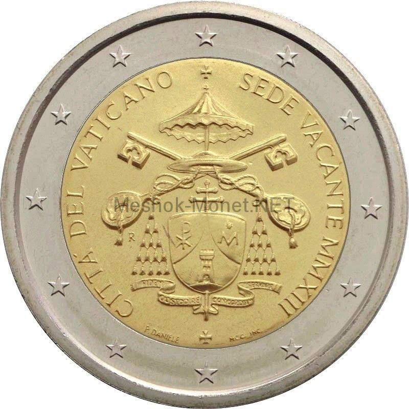 Ватикан 2 евро 2013, Вакантный престол (буклет)
