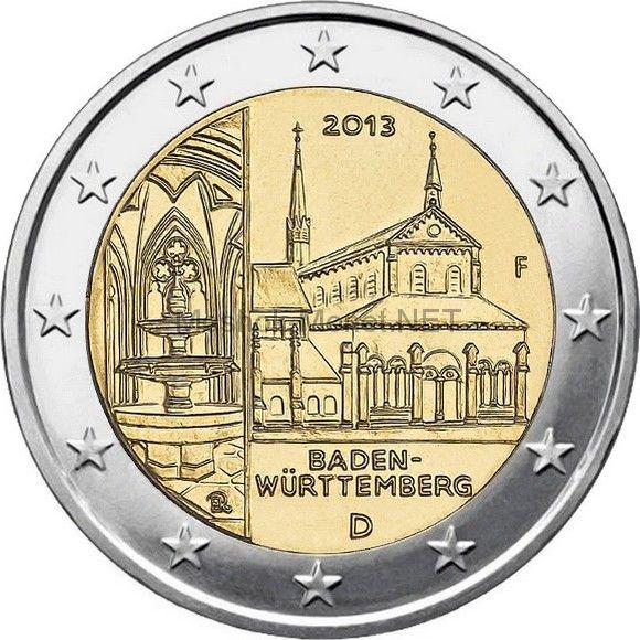 Германия 2 евро 2013, Баден-Вюртемберг (Монастырь Маульбронн)
