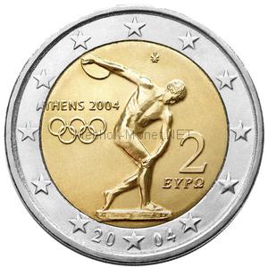 Греция 2 евро 2004 Летние Олимпийские игры 2004 в Афинах