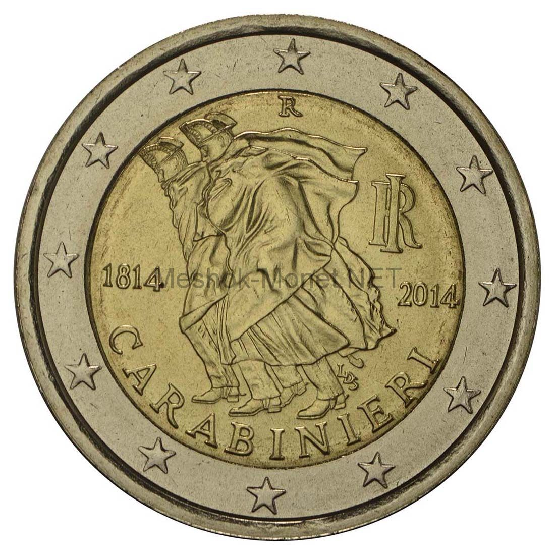 Италия 2 евро 2014, 200 лет карабинерам