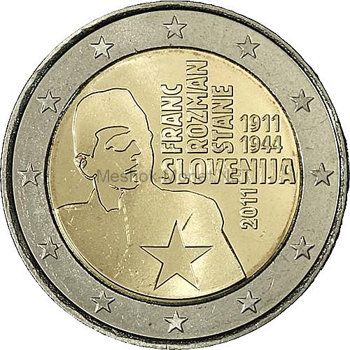 Словения 2 евро 2011 Франц Розман