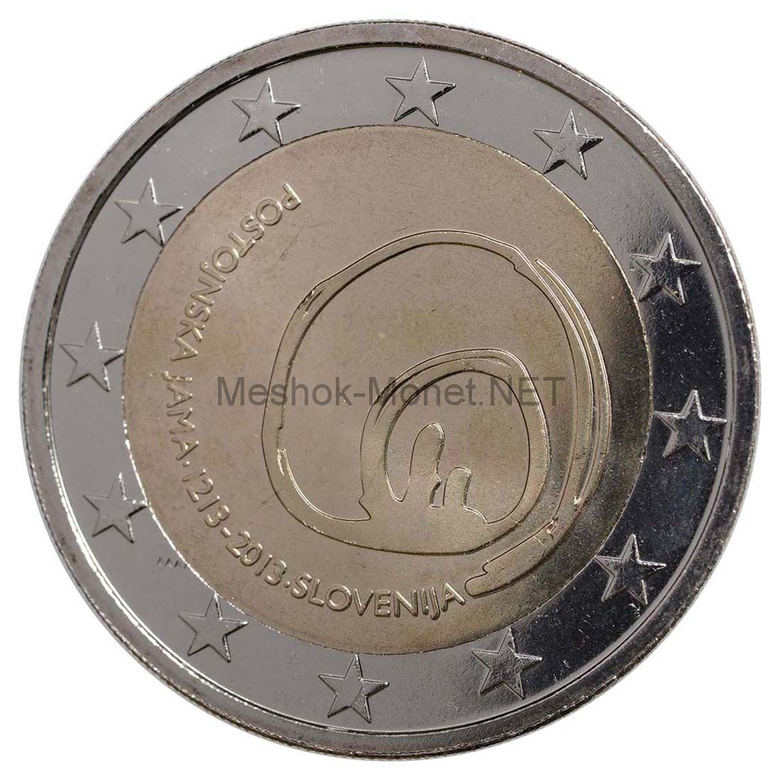 Словения 2 евро 2013, 800 лет открытию пещеры