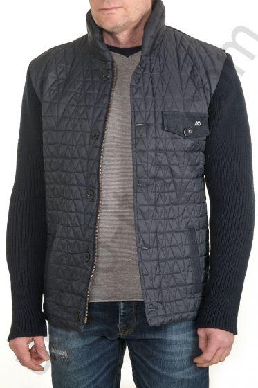 Комбинированная синяя куртка Amsterdenim