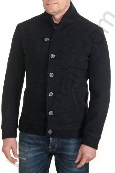 Куртка Amsterdenim темно-синяя шерстяная