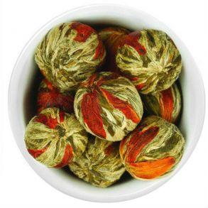 Клубничный связанный чай (Золотой Цветок) - Китайский элитный чай, штучно