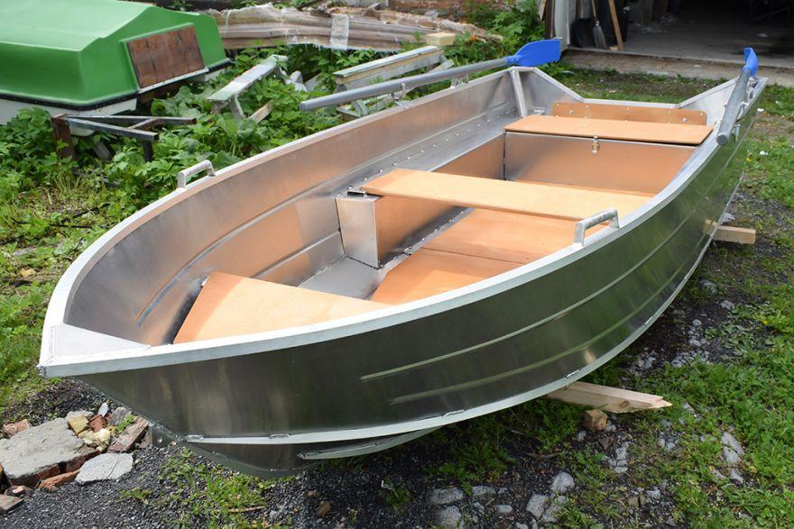 Алюминиевая лодка ВИЗА Алюмакс-355 с веслами