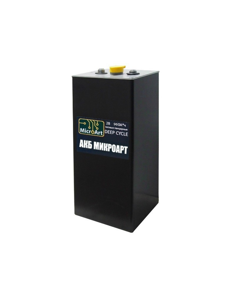Аккумулятор тяговый панцирный 2В 960 Ач Микроарт