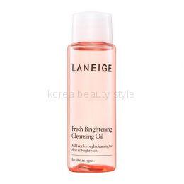 LANEIGE  Fresh Brightening Cleansing Oil  (25 ml) - гидрофильное масло для качественного  очищения,  придающее  Вашей коже свежий, сияющий вид от бренда LANEIGE ( мини-версия 25 мл).