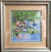 "Cross stitch pattern ""On the shore""."