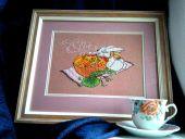 Схема для вышивки крестом Чайная церемония. Отшив.