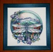 "Cross stitch pattern ""Dragonfly""."