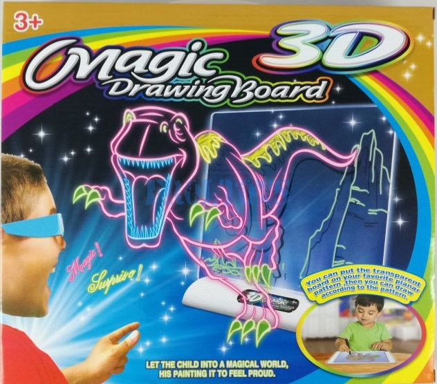 3D доска для рисования Magic Drawing Board Парк юрского периода