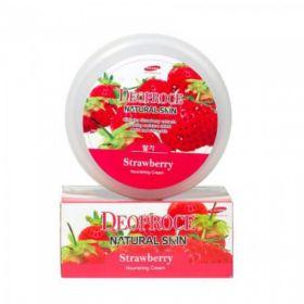 Deoproce Natural Skin Strawberry Nourishing Cream 100ml - питательный крем для лица и тела с экстрактом клубники