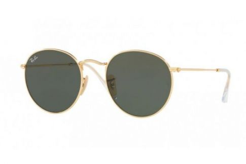 Ray-Ban Round Metal Flat Lenses RB3447N 001