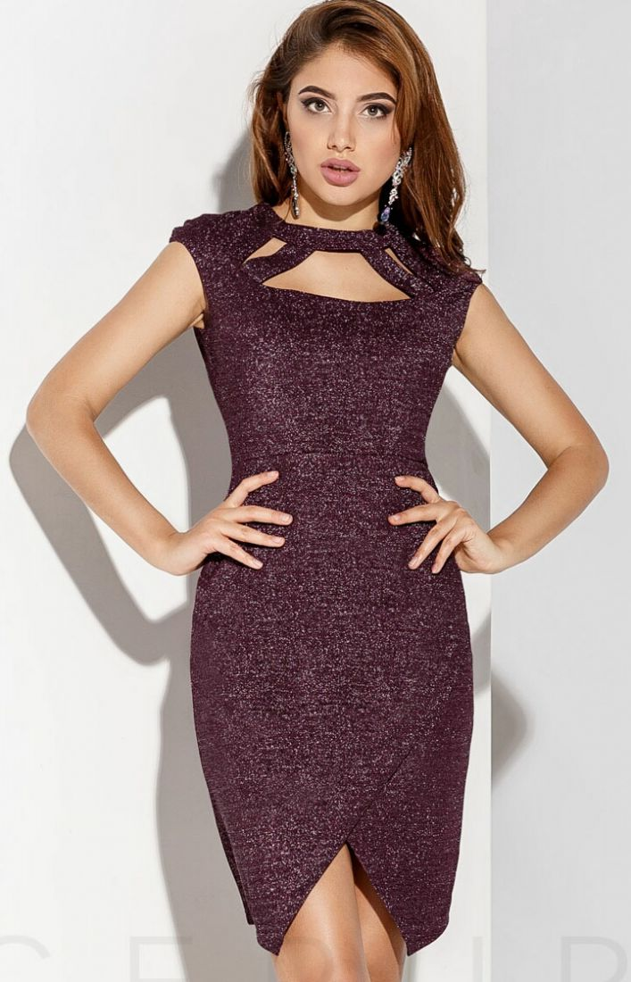 Асимметричное люрексовое платье