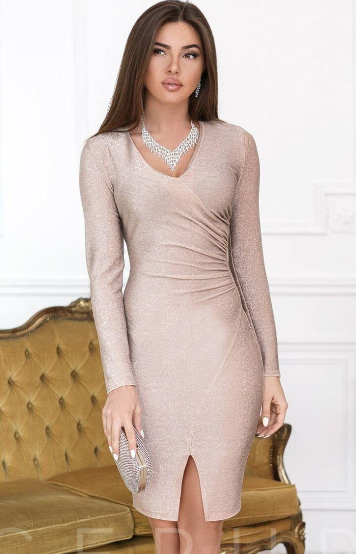 Облегающее платье люрекс