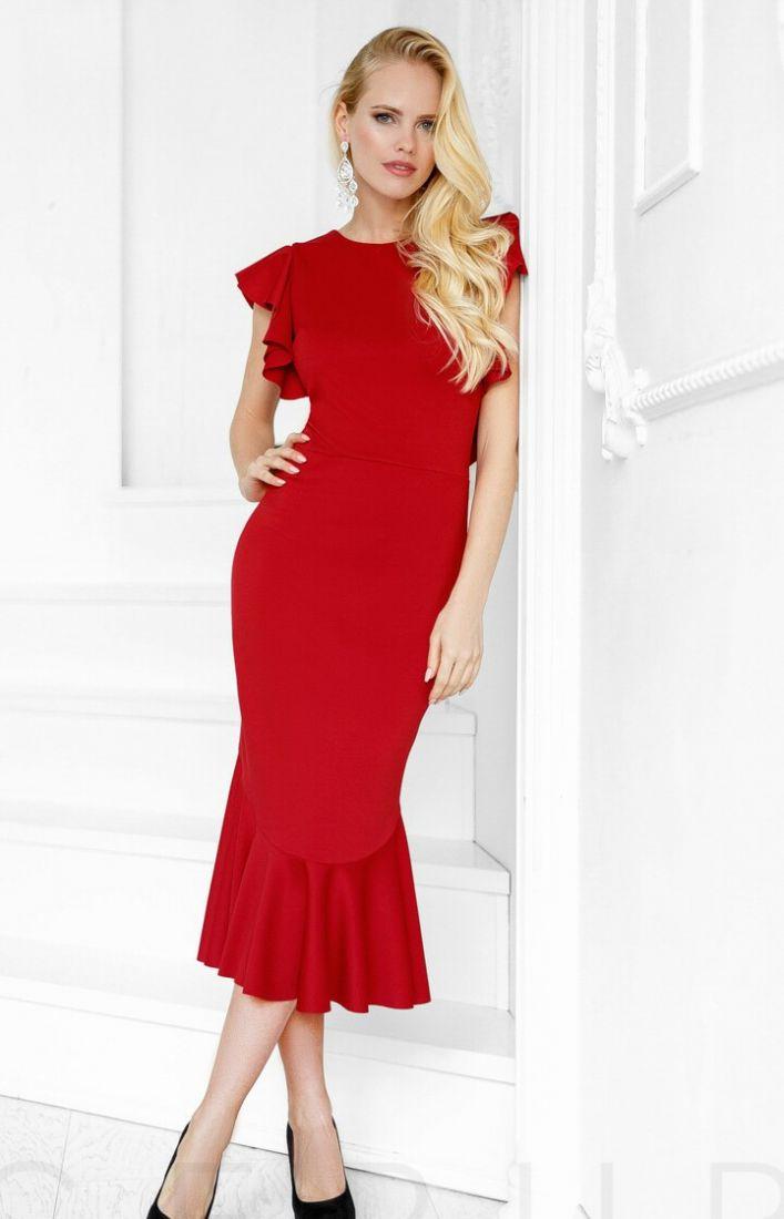 Восхитительное платье воланы